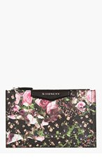 GIVENCHY Pink pebbled Floral Camo Antigona Zip Pouch for women