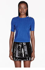 MARC JACOBS Blue crystal-embroidered SWEATER for women