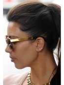 Single Initial Earring Stud in Gold as Seen On Kim Kardashian