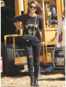 Current Elliott The Stiletto in Shredded Black as seen on Jessica Alba and Kim Kardashian