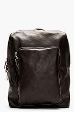 MAISON MARTIN MARGIELA Black Leather Backpack for men