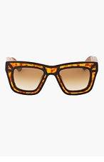 KSUBI Tortoiseshell Outline Skeleton Sunglasses for men