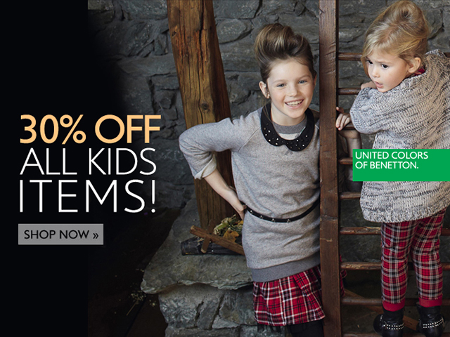 KIDS SALE: 30% off all Kid's items.