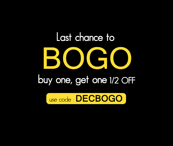 Get Your Bogo On - Buy One Get One 50% OFF