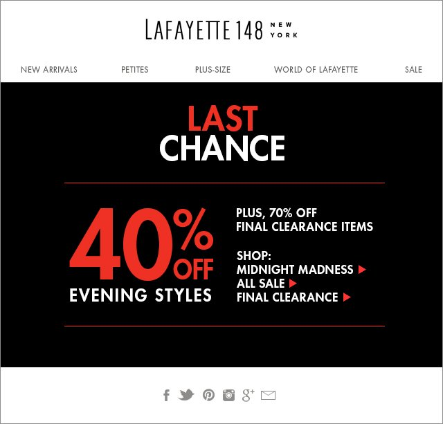 Last Chance to Save on Evening Styles!