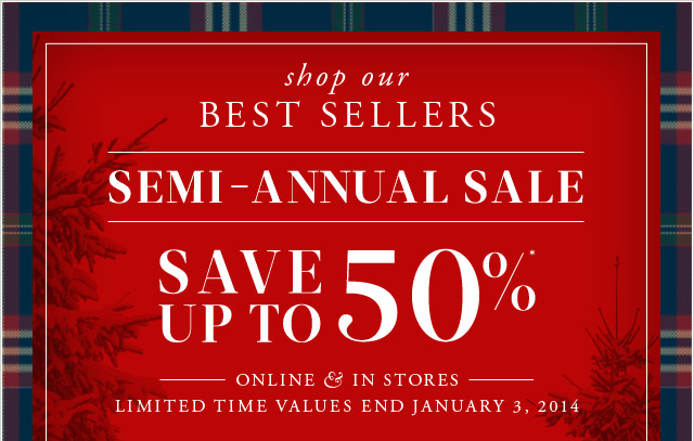 BEST SELLERS - SEMI-ANNUAL SALE