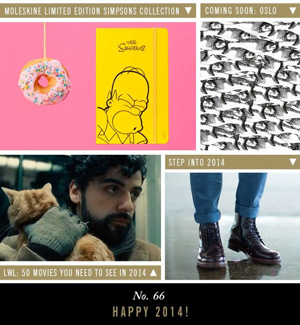 Moleskine Limited Edition Simpsons Collection | Coming Soon: Oslo | LWL: 50 Movies You Need to See in 2014 | Step Into 2014