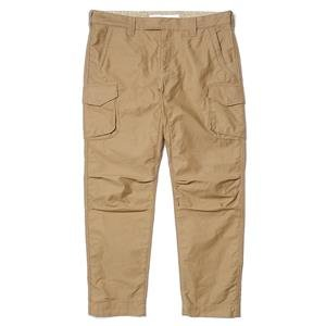 White Mountaineering Antique Wet Satin Ankle Slim Adjuster Pants Beige