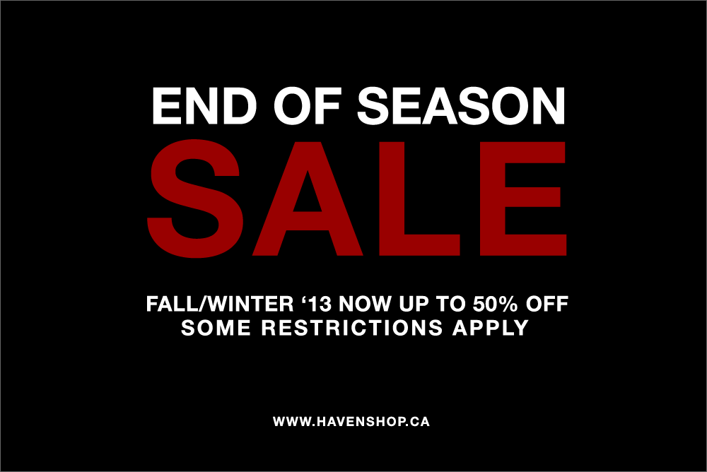 End of Season SALE | NOW ONLINE