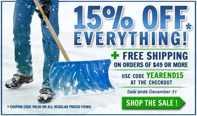 Get 15% Off All Regular Priced Items + Get FREE Shipping!