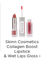 Skinn Cosmetics Collagen Boost Lipstick & Wet Lips Gloss