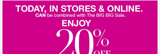 Enjoy 20% Off Your Purchase of $50 or More!