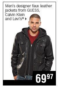 69.97 men's designer faux leather jackets.