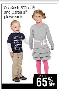 Up to 65% off OshKosh B'Gosh® and Carter's® playwear.