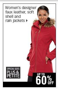 Up to 70% off women's designer jackets.