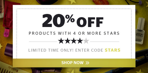 20% off Products with 4 or More Stars