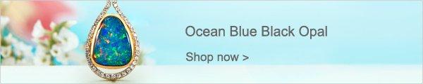 Ocean Blue Black Opal