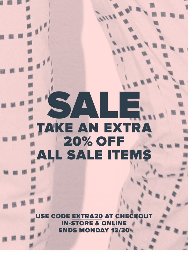 SALE Take An Extra 20% Off All Sale Items