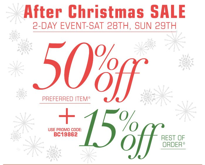 After Christmas Sale 2 Day Event