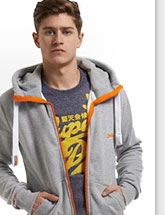 high neck zip hoodie