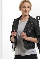 tassel biker jacket