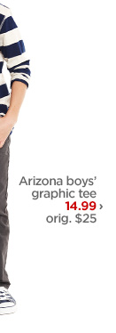 Arizona boys' graphic tee 14.99› orig. $25