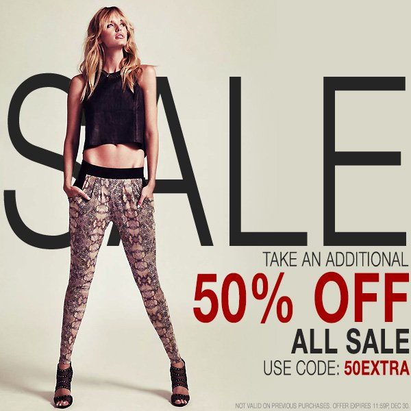 Take an extra 50% off all sale styles.