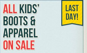 All Kids Boots and Clothing on Sale