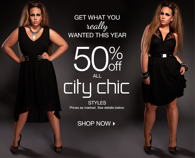 Shop 50% Off All City Chic Styles Now!