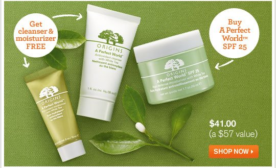 Buy A Perfect World SPF 25 GET cleanser moisturizer FREE SHOP NOW