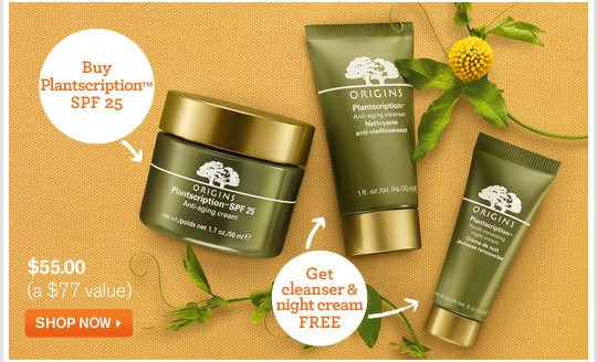 Buy Plantscription SPF 25 GET cleanser and night cream FREE SHOP NOW