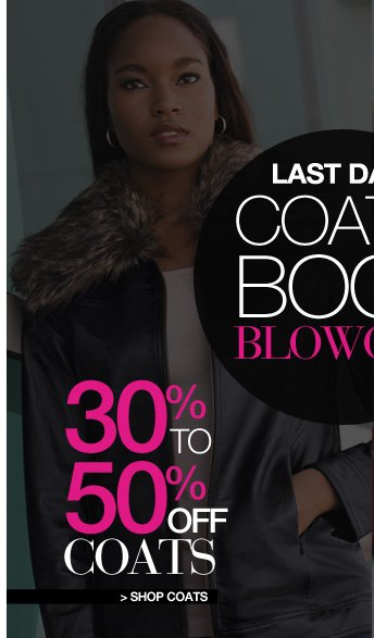 Shop Coats, 30% to 50% Off