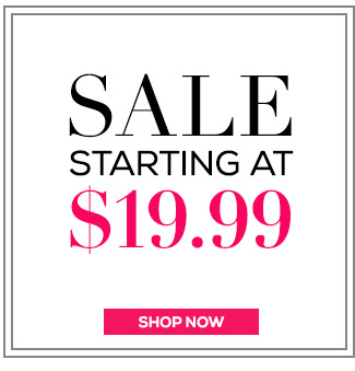 Sale Starting At $19.99