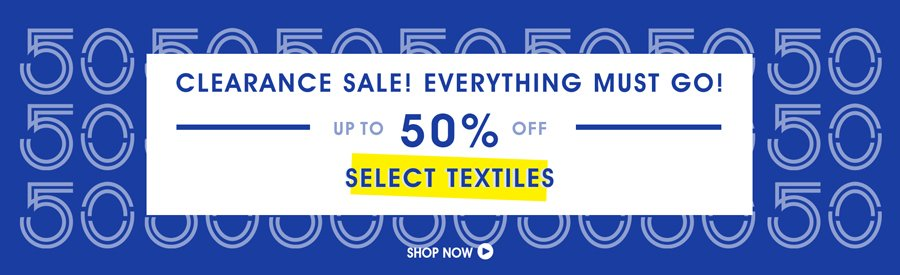 Clearance Sale! 50% Off