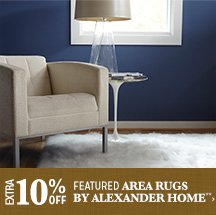 Extra 10% off Featured Area Rugs by Alexander Home**