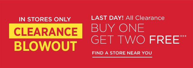 Buy One Get Two Free All Clearance