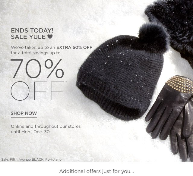 Up to 70% off Sale Yule Love