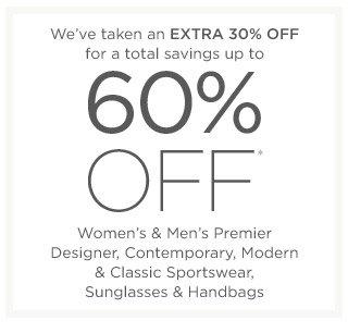 Up to 60% off Women's & Men's Premier Designer & more