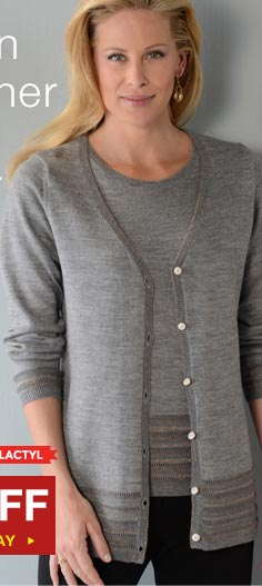 50% off this V-Neck Cardigan