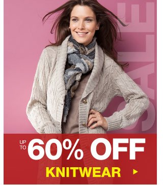 Up to 60% off Knitwear