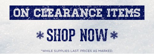 Up to 60% Off on Clearance Items