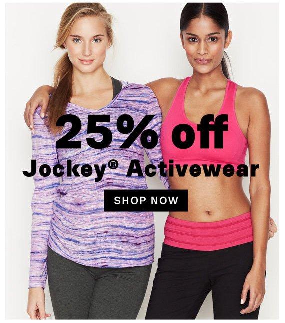 25% off Jockey® Activewear. Shop Now