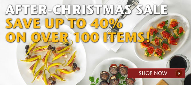 After-Christmas Sale - Save Up to 40% Off Over 100 Items! Shop Now