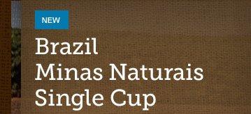 NEW -- Brazil Minas Naturais Single Cup