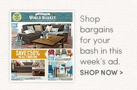 Shop bargains for your bash in this week's ad.