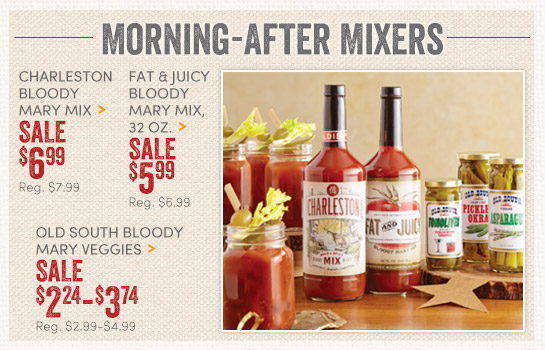 Save on Bloody Mary Mixes and Veggies