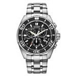 Citizen BL5440-58E Men's Signature Perpetual Calendar Eco-Drive Chronograph Dive Watch
