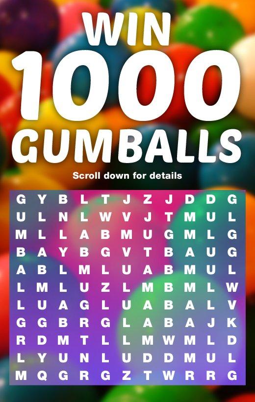 Win 1000 Gumballs