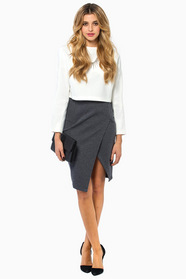 Signing Off Slit Skirt