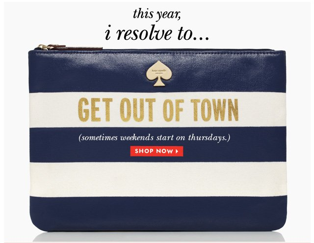 this year i resolve to. shop now.